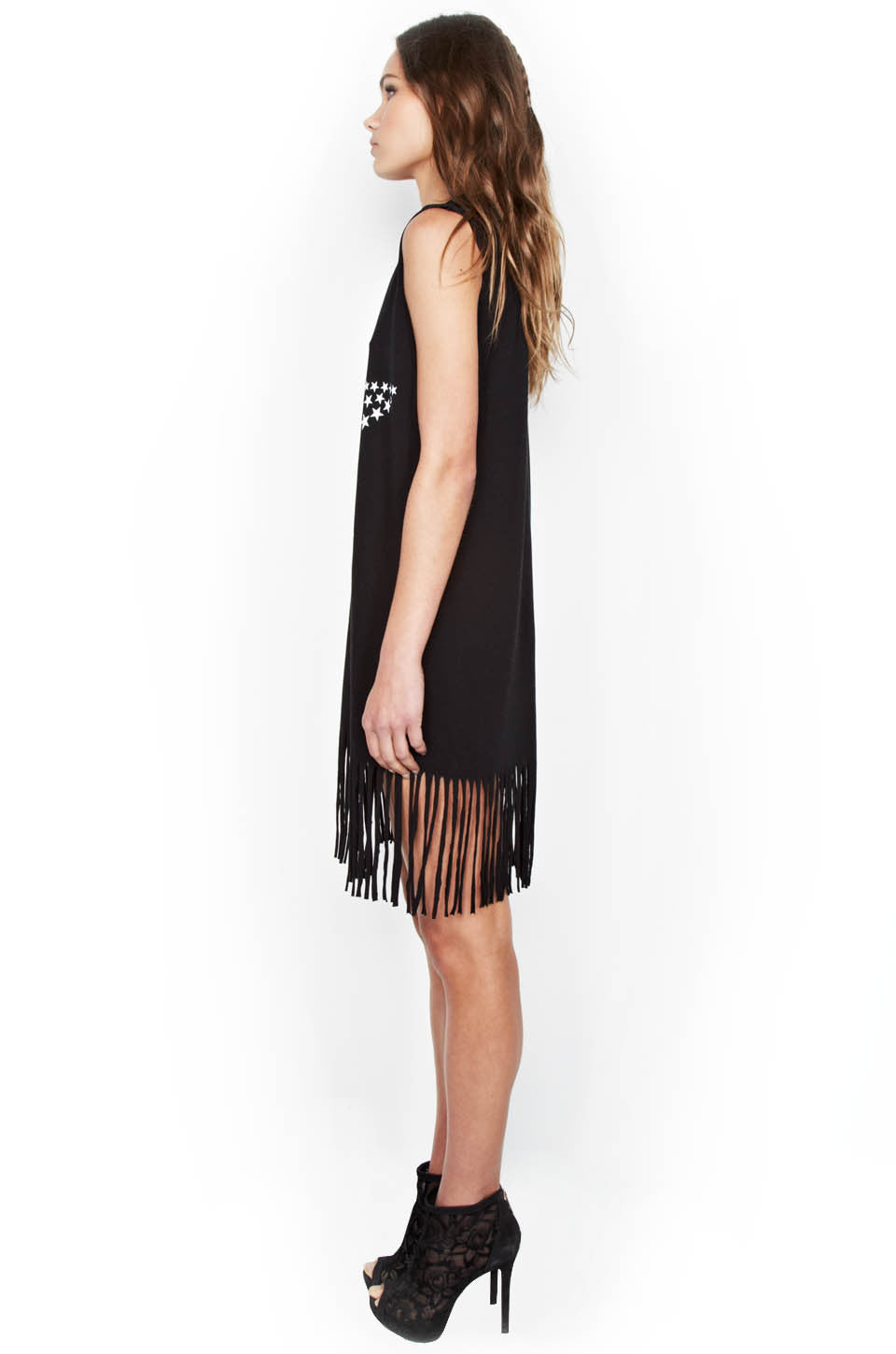Gin Ombre Star Sleeveless Fringe Dress - Lauren Moshi - 2