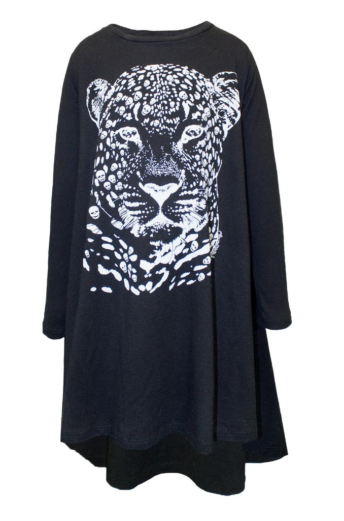 Betty Sml Leopard Head L/S Swing Dress