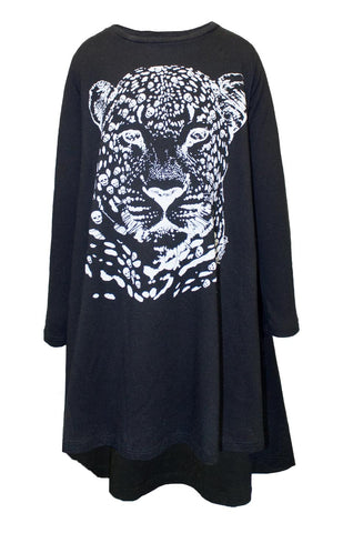 Betty Sml Leopard Head L/S Swing Dress - Lauren Moshi - 2