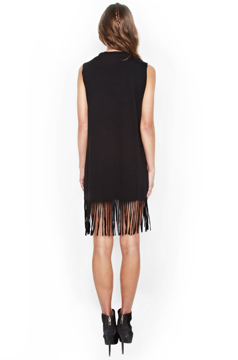 Gin Ombre Star Sleeveless Fringe Dress - Lauren Moshi - 3