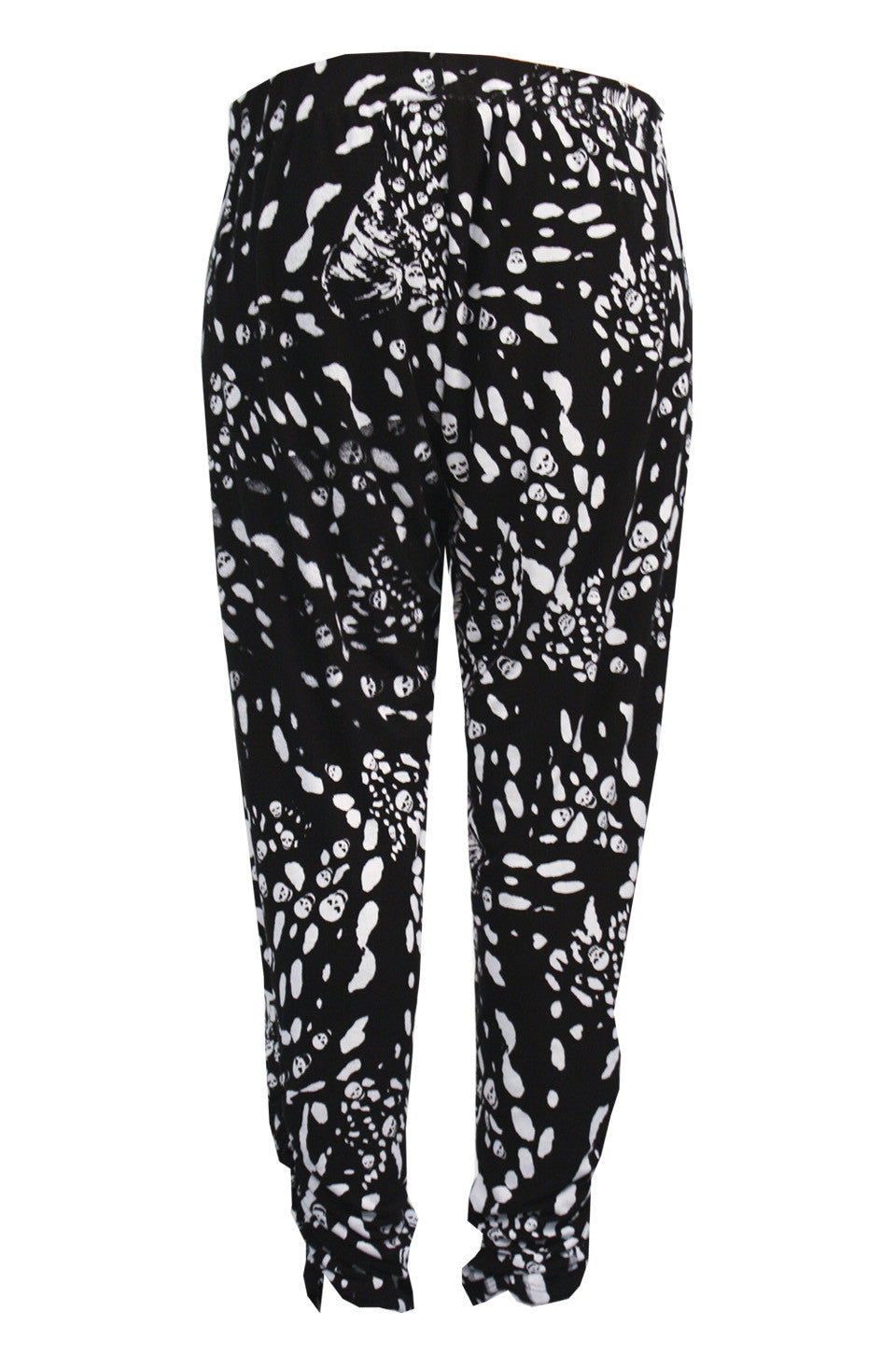 Lauren Moshi Women's Mimi Leopard Print Pant with Sheering FINAL SALE
