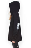 Corbin Sml Star Eye Skull Pullover Hoodie W/ Side Zippers - Lauren Moshi - 1
