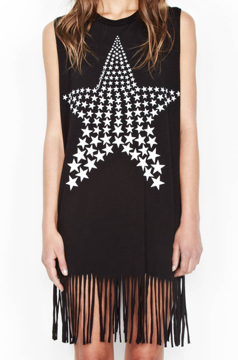 Gin Ombre Star Sleeveless Fringe Dress - Lauren Moshi