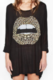 Milly Color Leopard Lip 3/4 Slv Oversized Dress - Lauren Moshi - 4