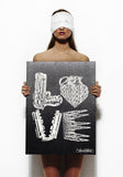Canvas Square Love Art - Lauren Moshi