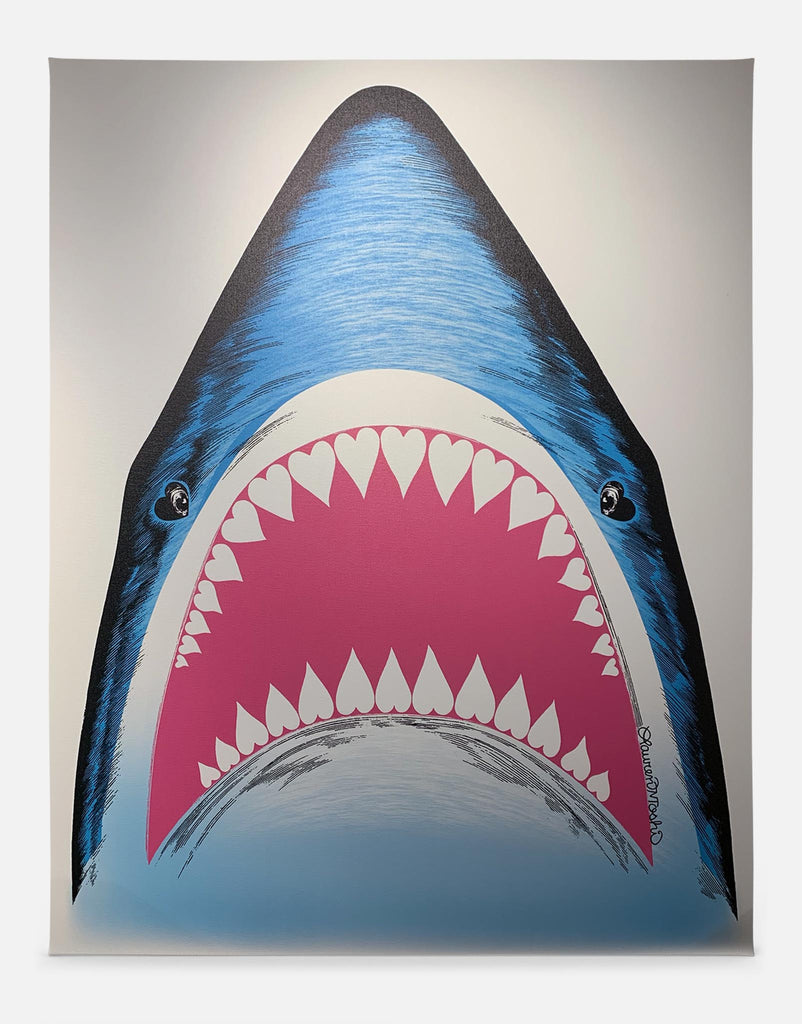 Bright Shark Art Canvas