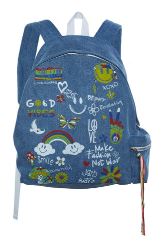 Quincy Good Vibes Backpack - Lauren Moshi - 2