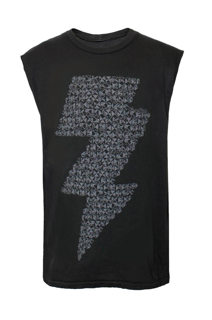Thor Stud Lightning Bolt Muscle Tee