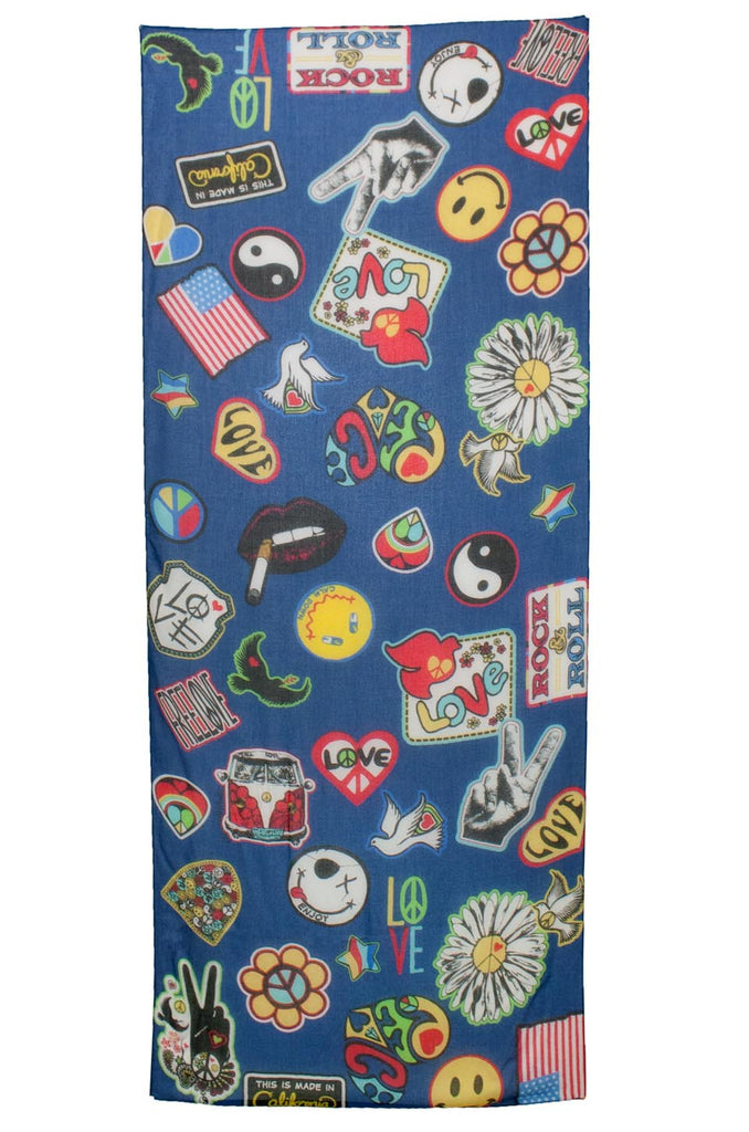 Flash Vintage Patches Long Scarf