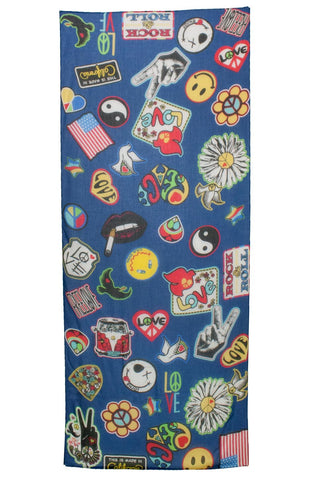 Flash Vintage Patches Long Scarf - Lauren Moshi - 2