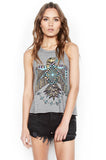 Libby Color Spirit Eagle Crop High Neck Tank - Lauren Moshi - 1