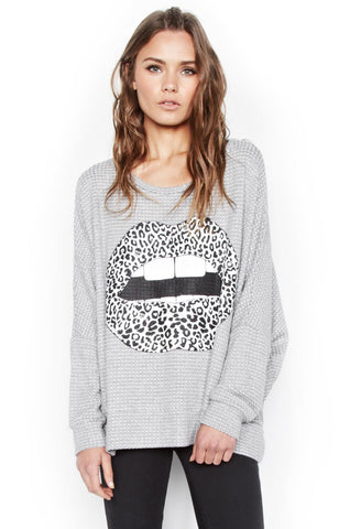 Temple Leopard Lip L/S Cape - Lauren Moshi - 1