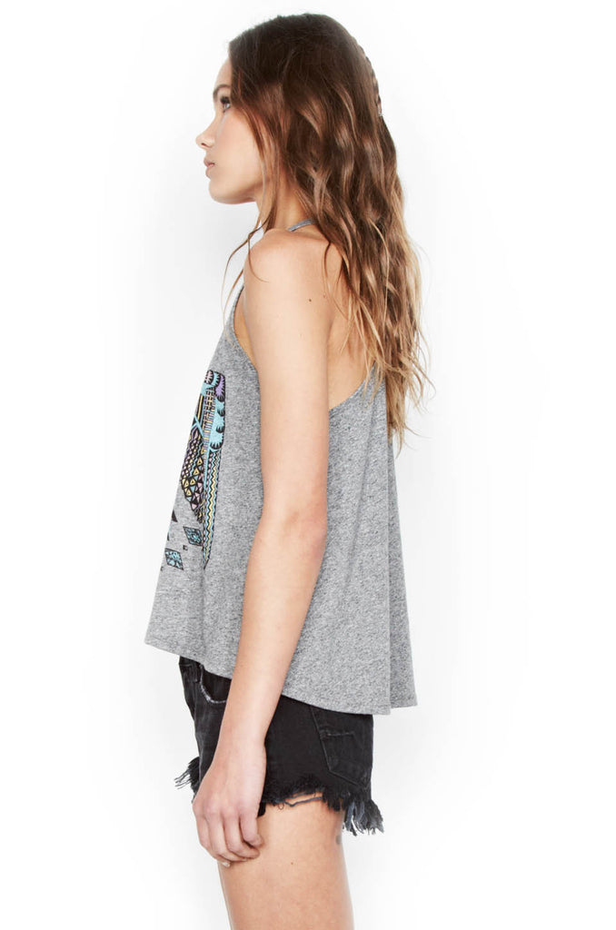 Libby Color Spirit Eagle Crop High Neck Tank - Lauren Moshi - 2