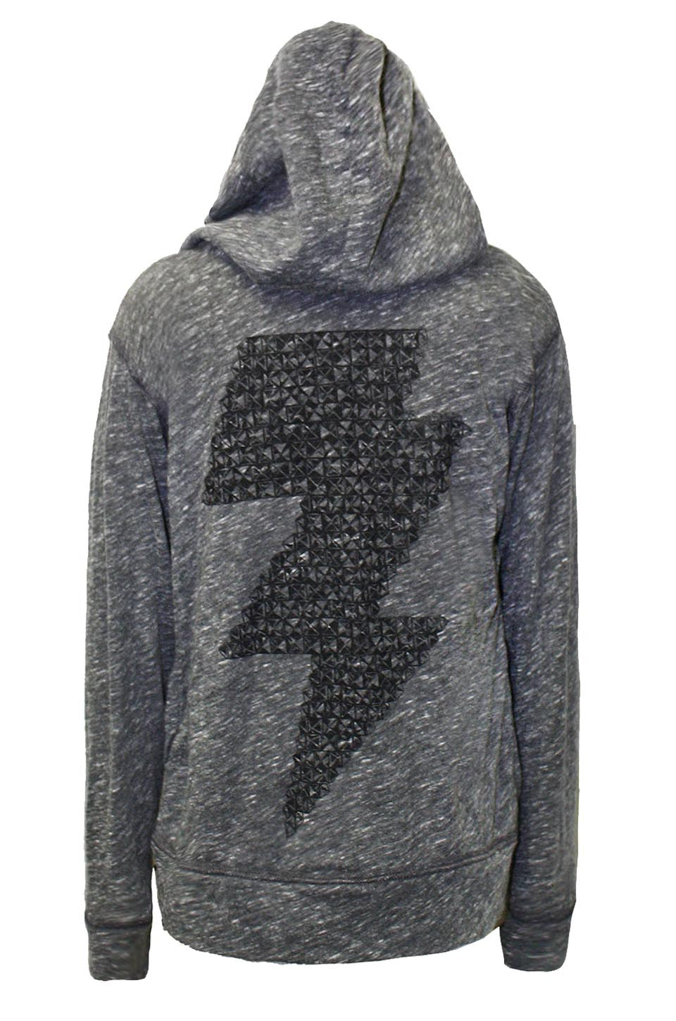 Gumby Stud Lightning Bolt Jersey Zip Up Hoodie - Lauren Moshi - 4