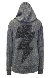 Gumby Stud Lightning Bolt Jersey Zip Up Hoodie