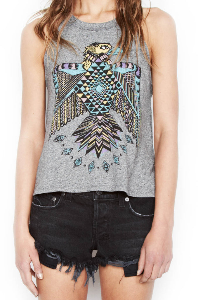 Libby Color Spirit Eagle Crop High Neck Tank - Lauren Moshi - 4