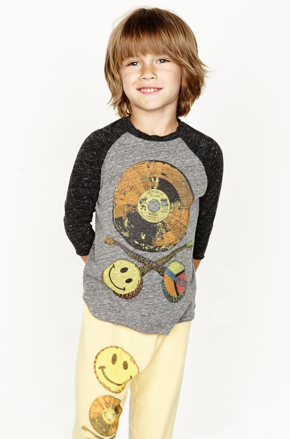 Bugs Color Record Raw Edge Raglan - Lauren Moshi - 1