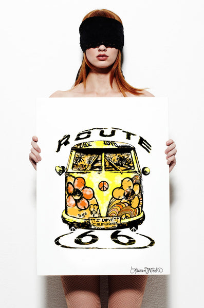 Canvas Color Hippie Van Art - Lauren Moshi