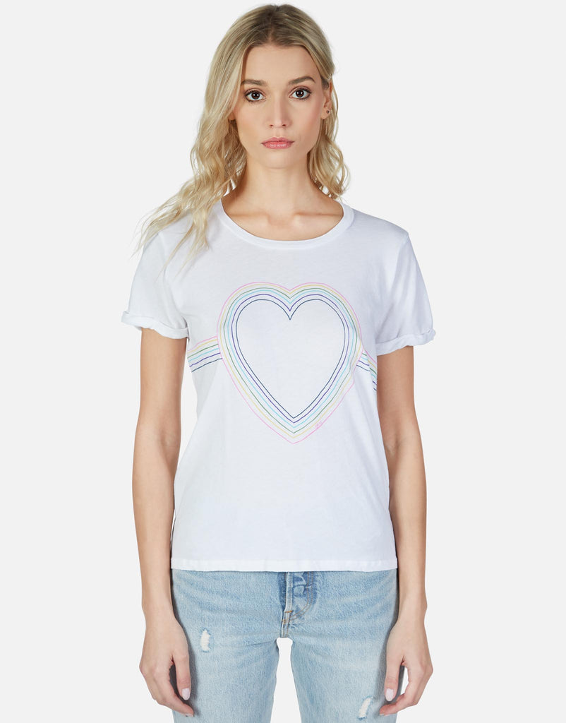 Edda Rainbow Heart Outline