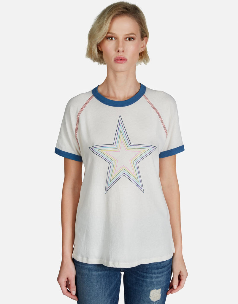 Leah Rainbow Star Outline