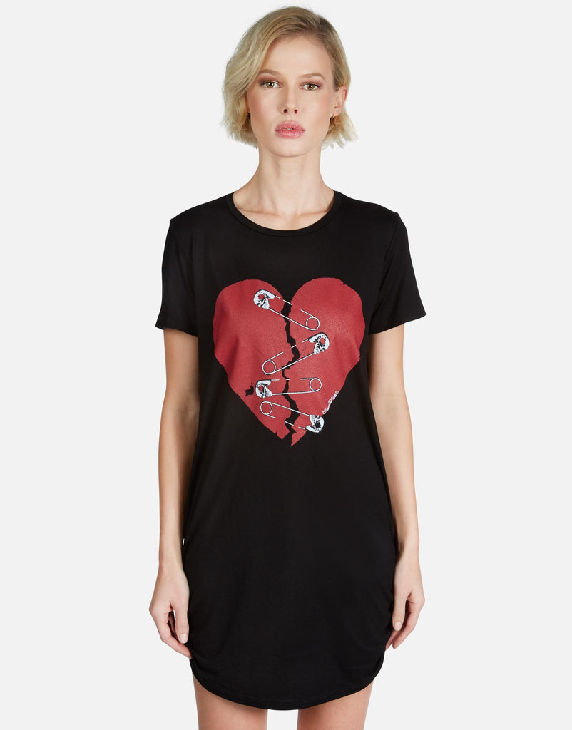 Miriam Safety Pin Heart