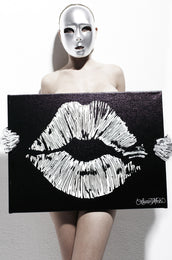 Canvas Lips Art
