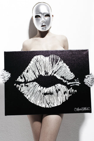 Canvas Lips Art - Lauren Moshi