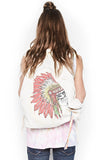 Quincy Special Skull Headdress Backpack - Lauren Moshi - 1