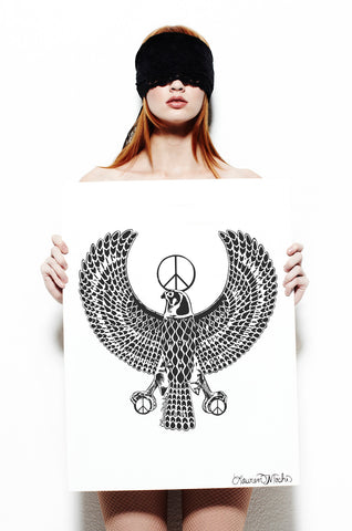 Canvas Peace Eagle - Lauren Moshi