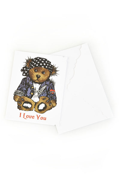 Color Rocker Teddy Greeting Card - Lauren Moshi - 1