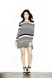Daryl Zig Zag Aine L/S Dress - Lauren Moshi - 1