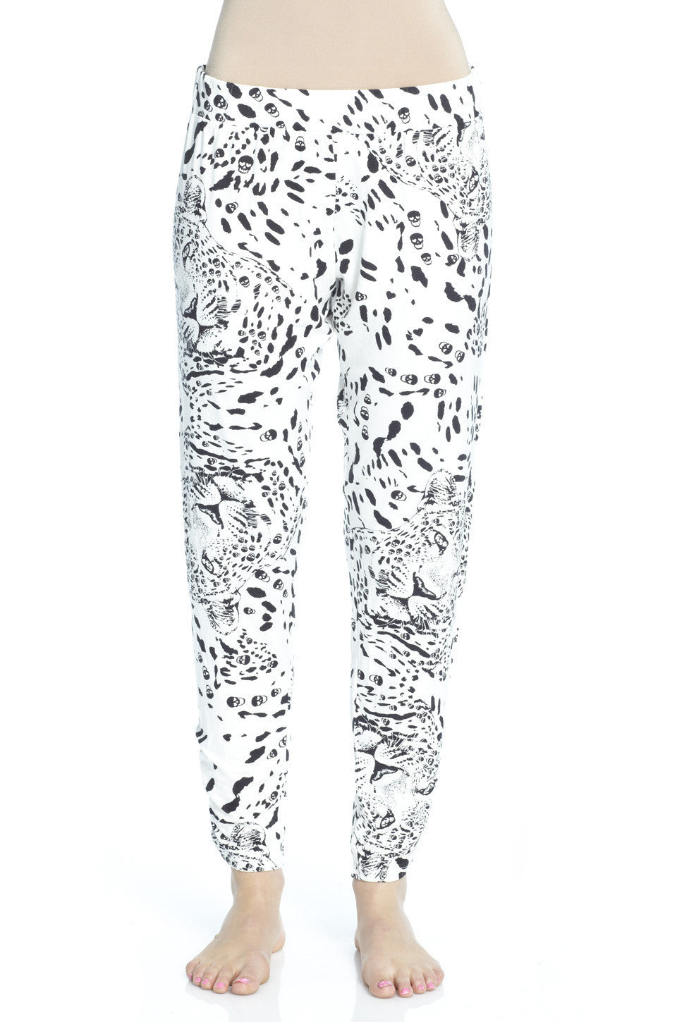 Mimi Leopard Print Pant with Sheering FINAL SALE - Lauren Moshi - 1