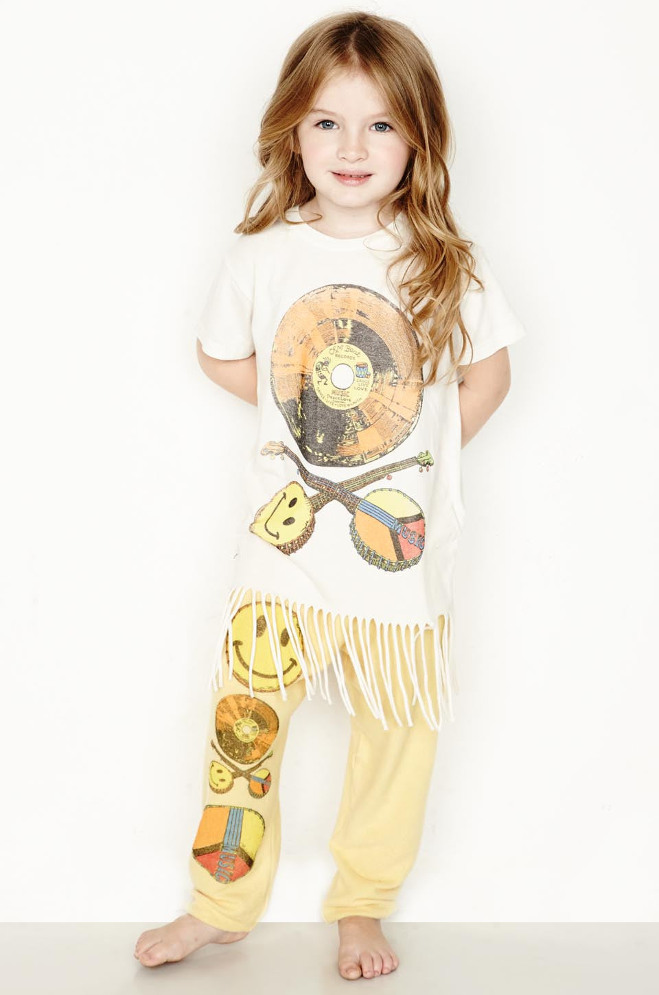 Snow Color Record S/S Fringe Tee - Lauren Moshi - 1