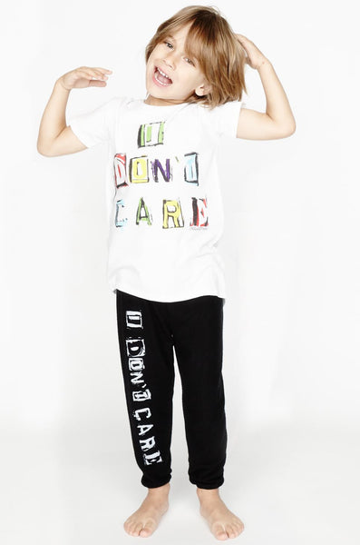 Puff Multi Color I Don't Care Asymmetrical Hem Tee - Lauren Moshi - 1
