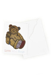 Color Teddy Greeting Card