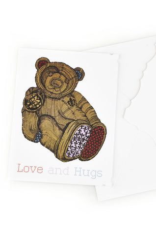 Lauren Moshi Women's Color Teddy Greeting Card - White