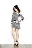 Daryl Zig Zag Aine L/S Dress - Lauren Moshi - 2