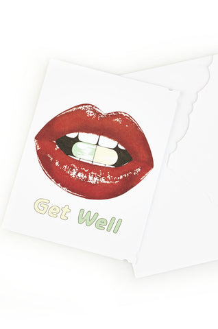 Lauren Moshi Women's Pill Lip Greeting Card - One