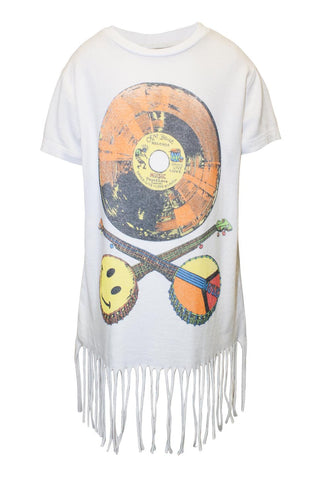 Snow Color Record S/S Fringe Tee - Lauren Moshi - 2