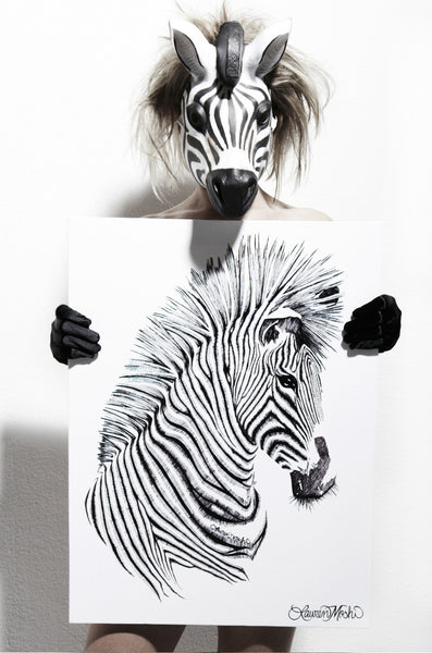 Canvas Zebra Art - Lauren Moshi