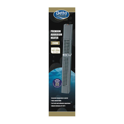 Newlyn Pets, Betta Premium Aquarium Heater 200w, fully submersible,controlled manually.