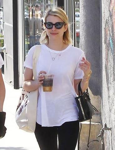 Emma Roberts in Michael Lauren Clothing