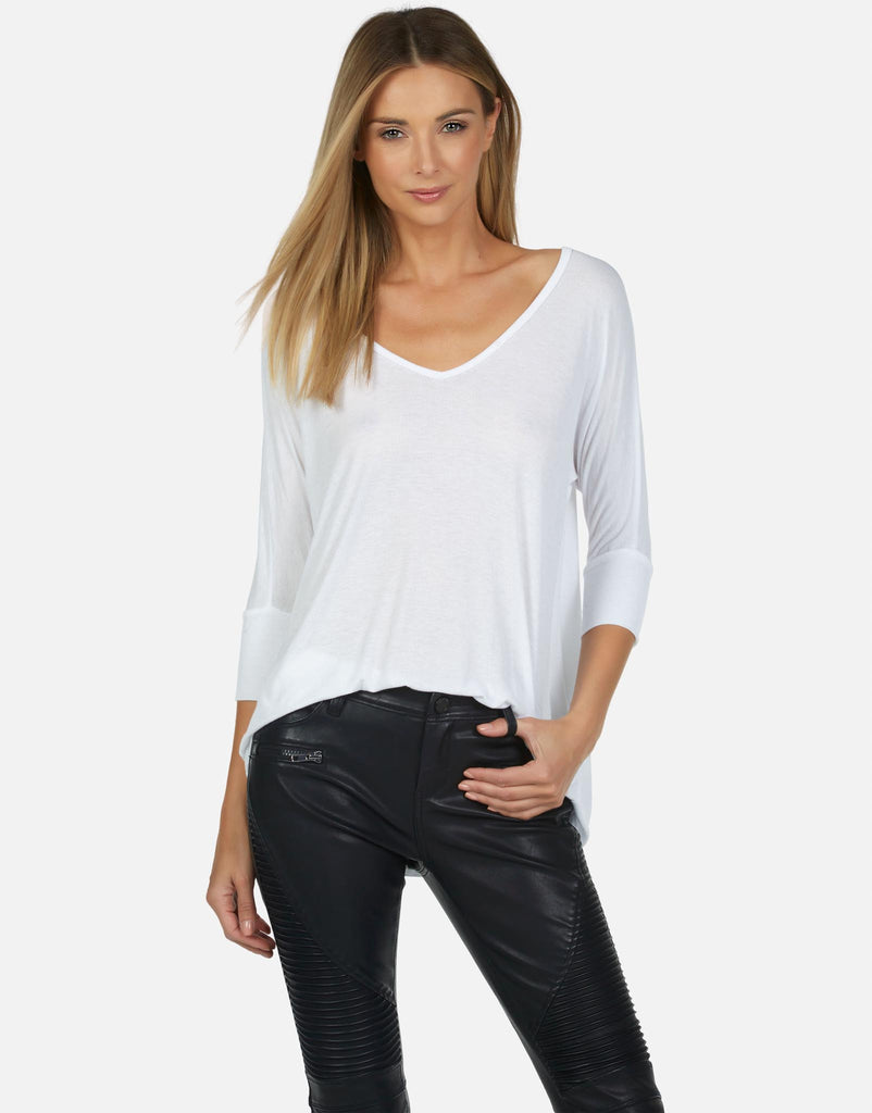 Dylan Core V-Neck Draped Tee