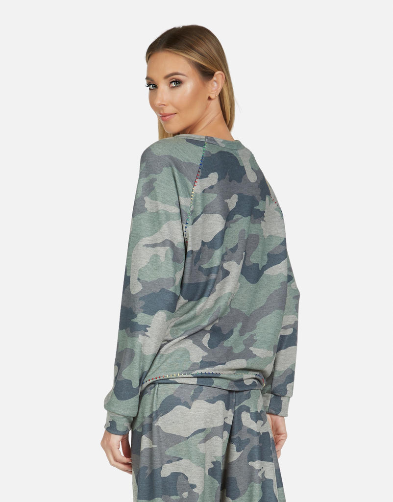 James LE Army Camo Raglan