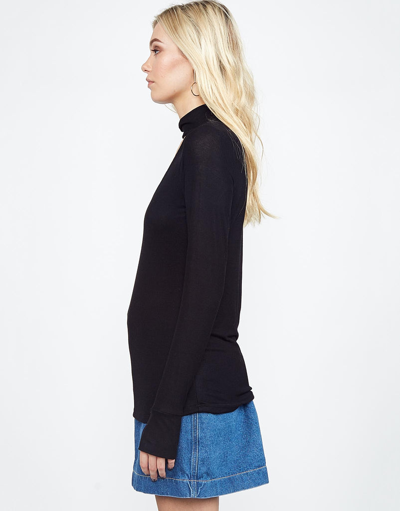 Laurence Mock Neck Top