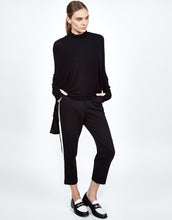 Nero Draped Turtleneck