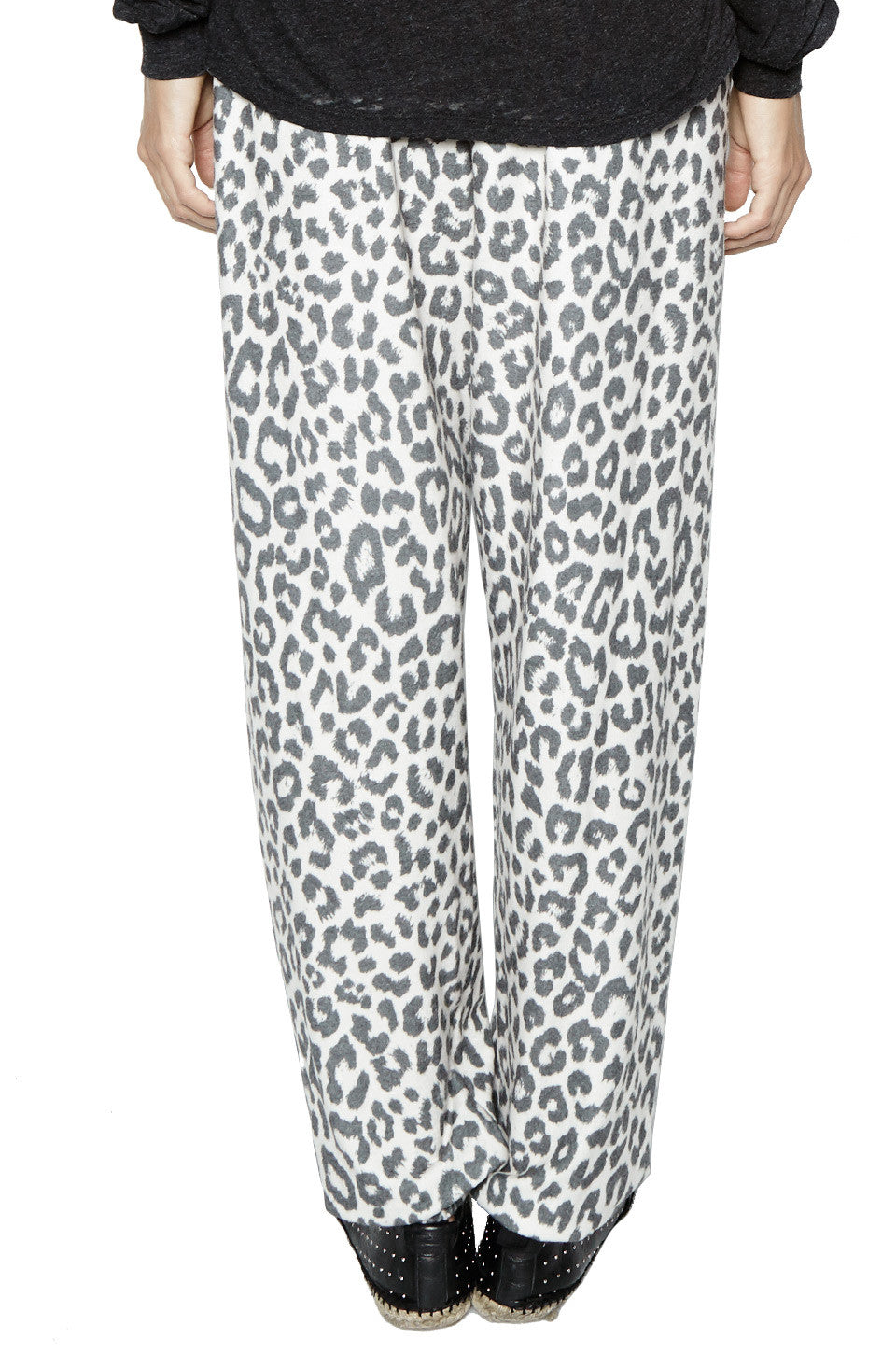 George Super Soft Sweatpant W/ Elastic in Leopard