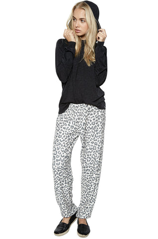 Michael Lauren Women's George Super Soft Sweatpant W/ Elastic in Leopard