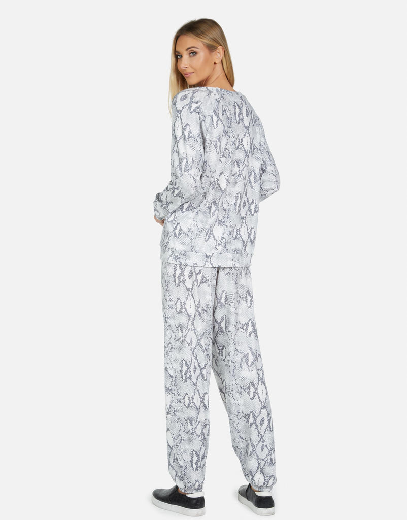 George LE Grey Snake Sweatpant