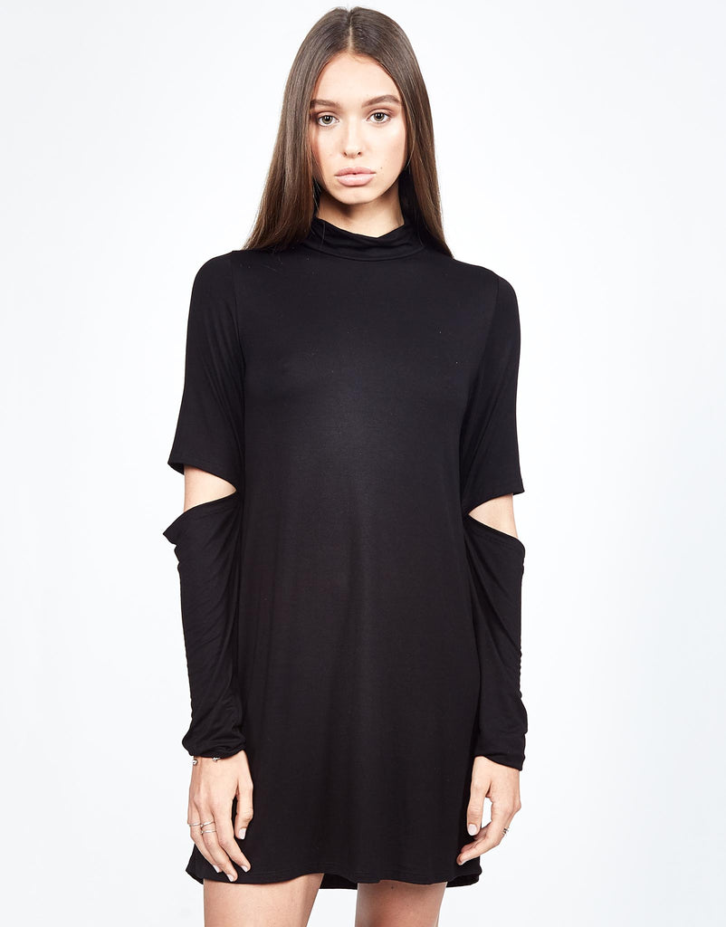 Rent Mock Neck Dress